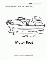 Coloring Motor Boat Pages Popular Cars sketch template