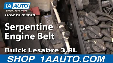 replace serpentine belt   buick lesabre youtube