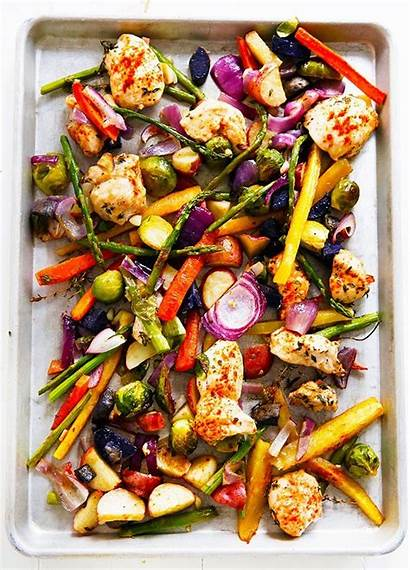 Pan Chicken Sheet Dinner Veggie Recipes Recipe