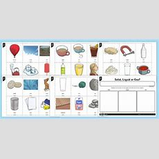 Solids Liquids Gases Sorting Activity  Solids Liquids And