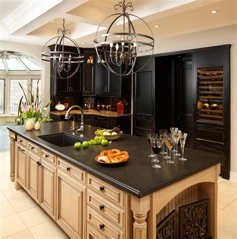 kitchen design granite countertops classic modern minimalist kitchen design with black pearl 4448