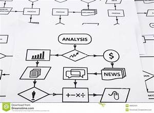 Flow Chart Of Analysis Information System Stock Photo