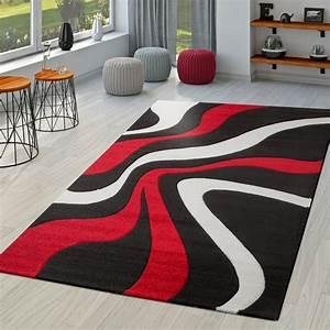 teppich rot schwarz weiss wohnzimmer teppiche modern mit With balkon teppich mit tapete rot schwarz