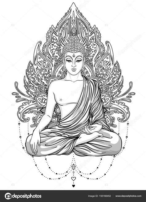 Spirituele Kleurplaten by Im 225 Genes Buda Para Pintar Sentada A Buddha Adornado