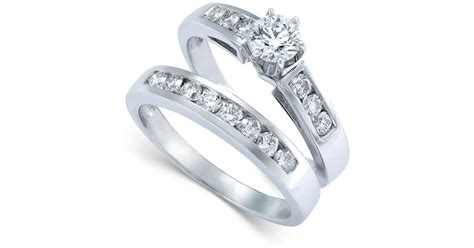 macy s engagement ring bridal in 14k white gold 9 10 ct t w lyst