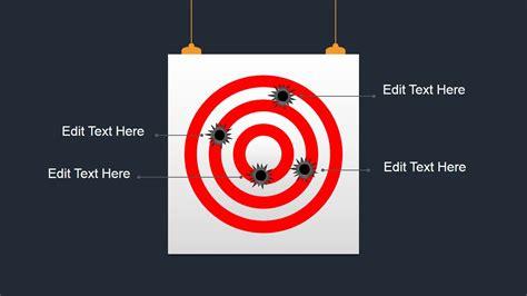bullseye shapes  powerpoint slidemodel