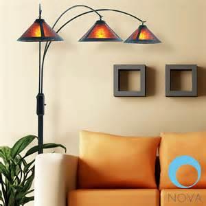 Fireplace Switch by Nova Mica Nova Mica 3 Light Arc Floor Lamp