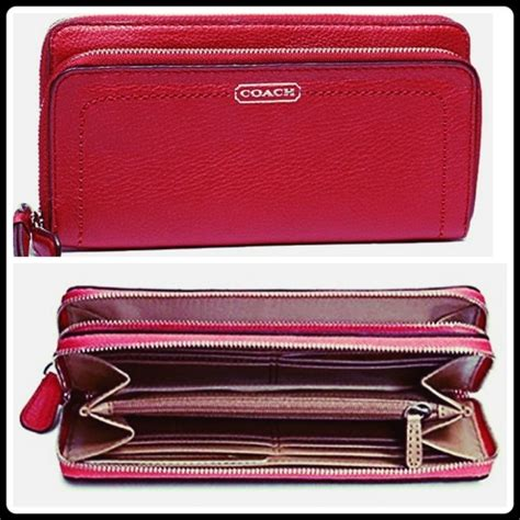 large leather purse 36 coach handbags coach leather accord zip