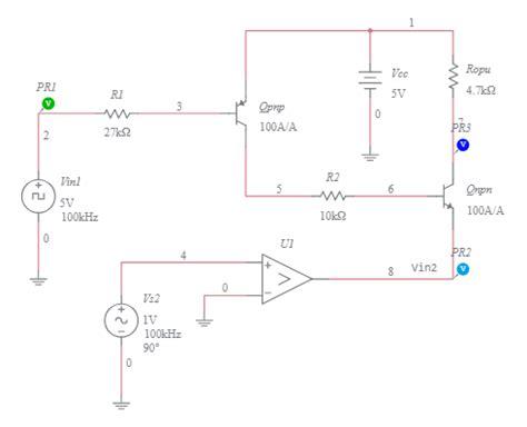 Diode Bjt Nand Gate Switch Input Multisim Live