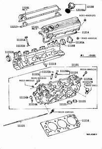 1989 Toyota 4runner Engine Cylinder Head Gasket  Arl