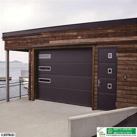 inspirasi model garasi samping rumah rib design