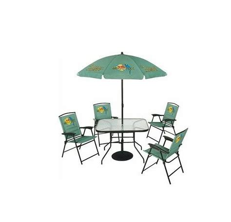 margaritaville 6 folding patio set blue ebay