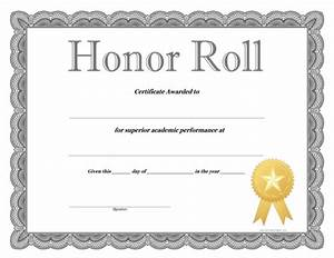 free printable honor roll certificates With a b honor roll certificate template