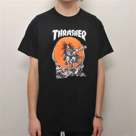tshirt thrasher hitam thrasher t shirt