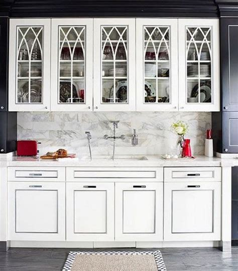 Ideas For Glass Kitchen Cabinets by 15 Charming Kitchen Designs With Glass Cabinets Rilane