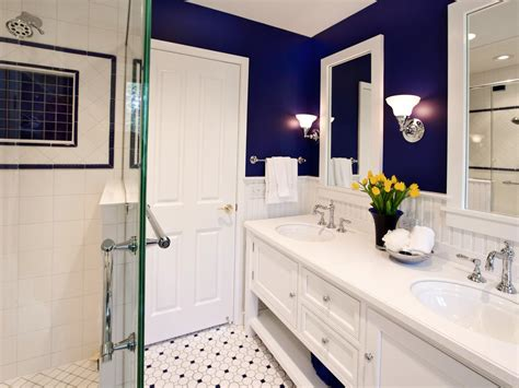 Bathroom Ideas Blue And White by 10 Hues For Tiny Bathrooms That Aren T White