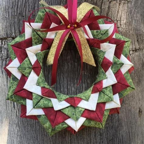 sew folded fabric wreath ornament pattern