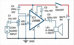 Lm386 Based Audio Amplifier