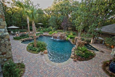 Green Areas Surrounding Pool- Patio Stone