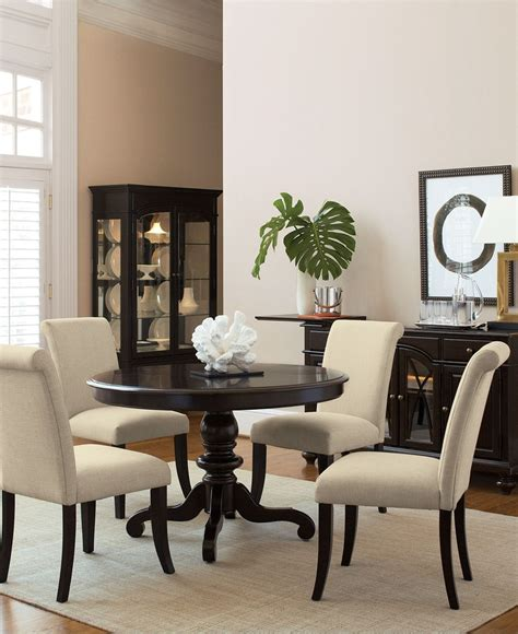 bradford 7 piece round dining room furniture set with