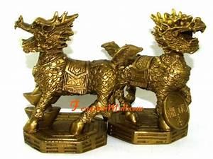 Feng Shui Chi : pair of brass chi lin on feng shui bagua kei loon qi ling ~ Bigdaddyawards.com Haus und Dekorationen