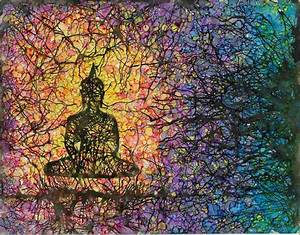 Buddha Meditating Abstract Painting Giclee Art by sarahmerrill