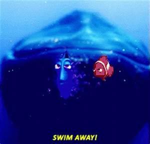 Swim Away GIF - Swim Away Finding - Discover & Share GIFs