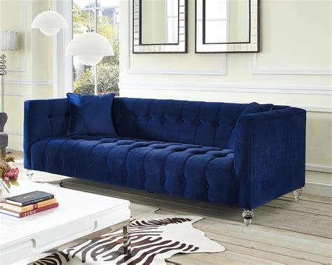 Navy Sofa by Bea Navy Velvet Sofa From Tov Tov S85 Coleman Furniture