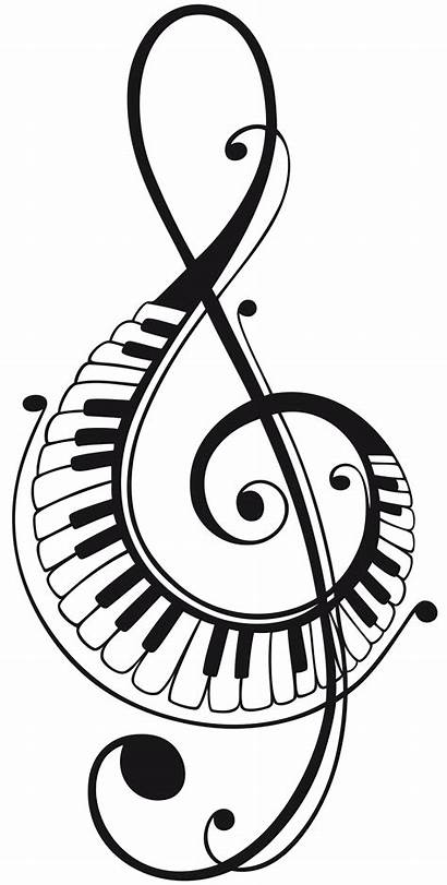 Notas Musicales Piano Sol Clave Clipart Musical