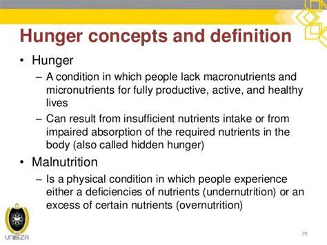 hunger definition 4 world hunger