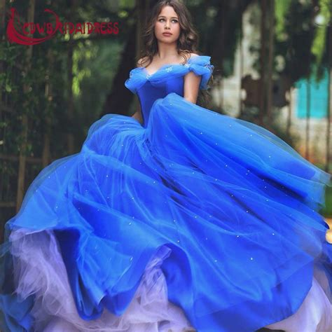 what color is cinderella s dress royal blue deluxe cinderella princess prom dresses 2017