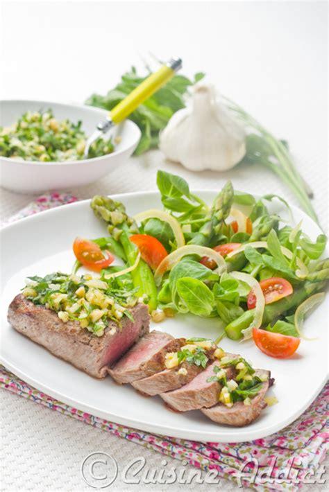cuisine addic steak herbs lemon gremolata cuisine addict