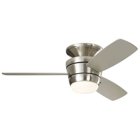 harbor breeze ceiling fan home depot shop harbor breeze mazon 44 in brushed nickel flush mount