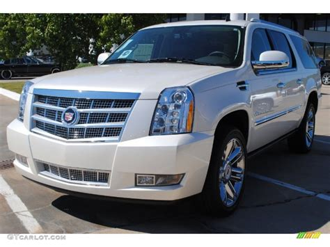 white diamond tricoat cadillac escalade esv platinum  gtcarlotcom car color