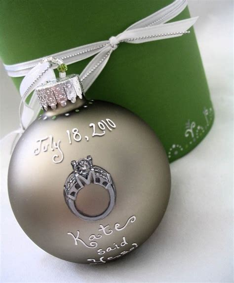 custom wedding engagement ring ornament by sarei on etsy