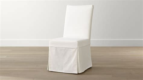 white chair slipcovers slip white slipcovered dining chair crate and barrel
