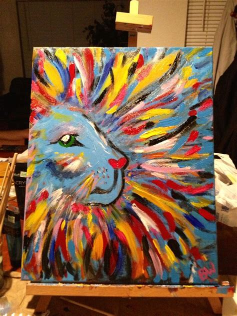 My Big Girly Lion Diy Canvas Painting  Search, Kid And