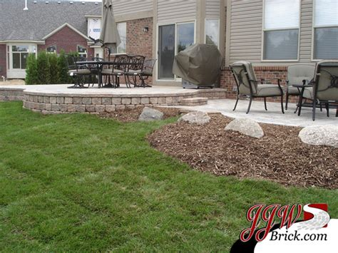 paver patio designs traditional landscape detroit