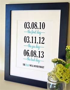 wedding gift art 8x10 engagement gift for husband birthday With wedding anniversary gift for wife