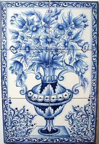 piastrelle dipinte a mano pannelli cobalto z005 the of italy