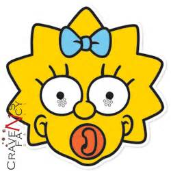 Maggie Simpson Mask 6 Pack Official The Simpsons Card