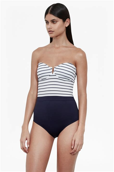 bandeau halter neck swimsuit collections french connection