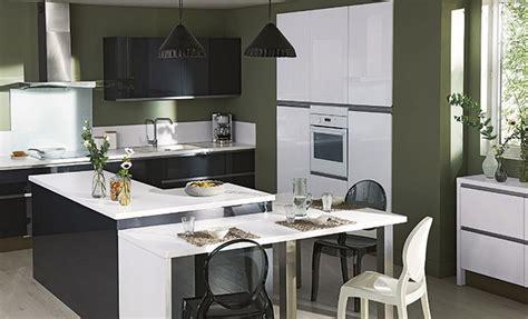 cuisine en l ouverte sur salon une cuisine ouverte en u