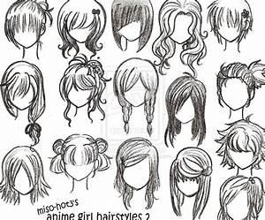 cute anime girl hairstyles drawings