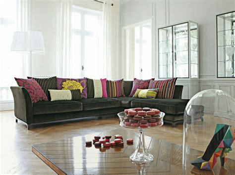 coussin sur canapé gris canapé roche bobois en 25 photos mobilier haute de gamme