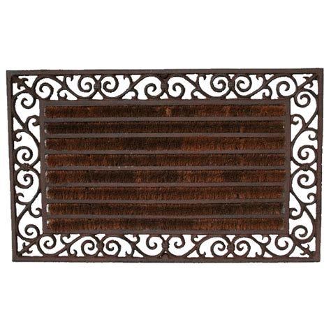 cast iron doormat cast iron rectangular doormat w coir kidscollections
