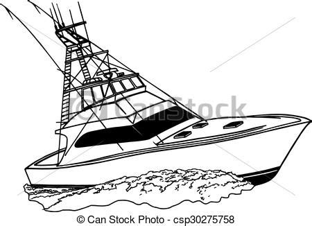 Malibu Boat Drawing by Sport Fishing Boat Clipart 57