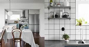 la maison d39anna g scandinavian kitchen trends With kitchen cabinets lowes with papier peint cuisine lessivable