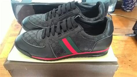 Jual Sepatu Cowok Pria Branded Gucci Lace Up Sneakers