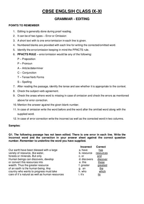 grammar worksheets for grade 8 with answers